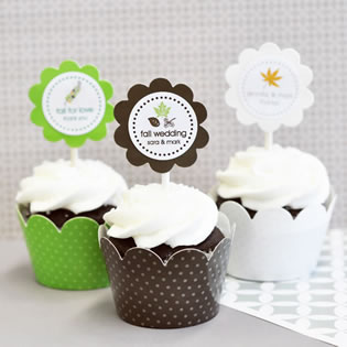 Fall Cupcake Wrappers & Cupcake Toppers