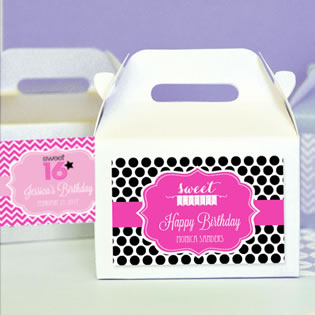 Sweet Sixteen (or 15) Mini Gable Boxes (set of 12)