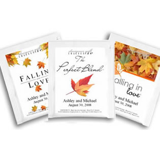 Personalized Tea Favors - Fall Theme (5 designs available)