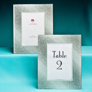 Glitz and Glamour Table Number Frames