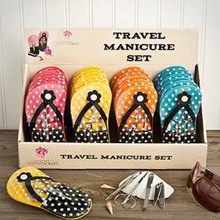 Adorable flip flop design manicure sets