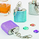 Fabulous Bling flask key chains from Gifts By Fashioncraft