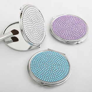 Bling compact mirrors from Gifts By Fashioncraft