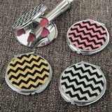 Glitter Chevron compact mirror from gifts by fashioncraft