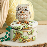 Night Owl On A Branch Trinket Box