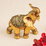 Golden good luck decorative elephant from gifts by fashioncraft