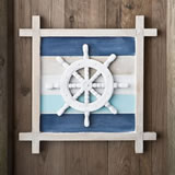 Nautical Themed Ship's Wheel Wall Decoration