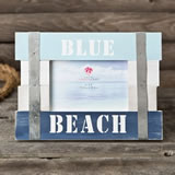 Blue Beach Frame 6 x 4 Horizontal from gifts by fashioncraft