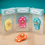 Colorful flip flop magnets