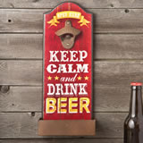 Keep calm and drink beer - bottle opener from gifts by fashioncraft