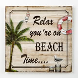 Relax you're on Beach Time - wood wall plaque from gifts by fashioncraft