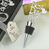 Metal Best Day Ever bottle stopper from fashioncraft