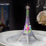Eiffel tower favor in clear acrylic plastic with colorful LED lights