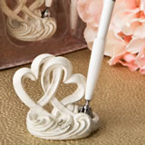 Vintage style double heart design pen set from fashioncraft