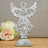 Stunning Angel statue in silver poly resin from Fashioncraft