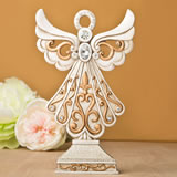Magnificent Antique design Angel statue in ivory and matte gold