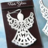 Heaven Sent Collection White Wood Angel Ornament