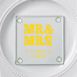 Personalized Stylish coasters from fashioncraft - marquee design