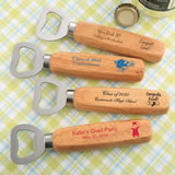 Design your own collection Wood handle bottle opener with solid stainless steel top opener