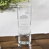 Personalized Fun 2 oz shooter glasses - birthday design