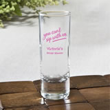 Personalized Fun 2 oz shooter glasses - Celebration Design