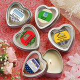 Design Your Own Collection Scented Heart Shaped Travel Candles - Holiday Themed