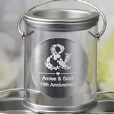 Personalized Metallics Collection Classic silver Mini Paint Can