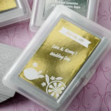 Personalized Metallics Collection playing cards with a designer top
