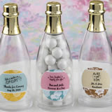 Design your own collection personalized acrylic champagne bottle with gold foil top