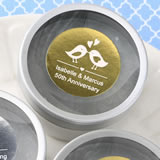 Personalized Metallics Collection Scented Round Travel Candles