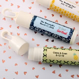 Personalized expressions lip balm with clip