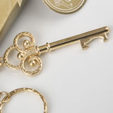 Key to my heart collection gold metal key chain