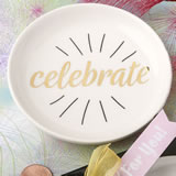 Celebrate white ceramic jewelry / change dish