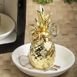 Warm welcome collection ceramic pineapple themed ring and jewelry holder