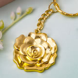 magnificent gold rose keychain favor