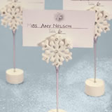 Snowflake Wedding  PlaceCard Holders