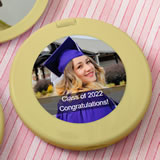 personalized  Gold compact mirror - birthday design