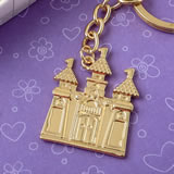 Gold castle key chain