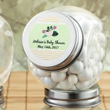 Personalized Candy Glass Jar - Tropical Design