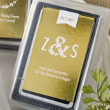 Personalized Metallics Collection playing cards favors