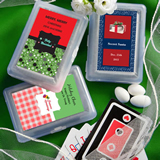 Personalized Holiday Playing Card Favors
