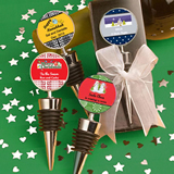 Holiday Themed Personalized Bottle Stoppers