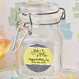 Personalized Classic Apothecary Glass Jar - Birthday Design