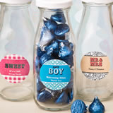 Personalized classic glass milk bottles - marquee design