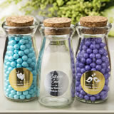 personalized metallics collection Vintage Glass Milk Bottle With Round Cork Top