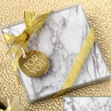 Stylish set of two Marble design glass coasters