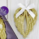 Soft Gold Angel Wing Ornament