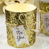 Gold beaded candle votive from fashioncraft