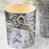 Silver beaded candle votive from fashioncraft