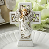Magnificent Cross statue with raised praying angel